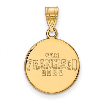 Gold-Plated Sterling Silver University of San Francisco NCAA Pendant