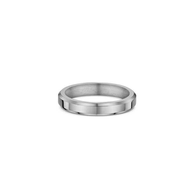 Dora 4mm Flat-Bevel Heavy Wedding Band