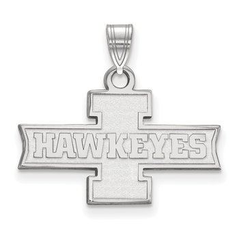 Gold University of Iowa NCAA Pendant