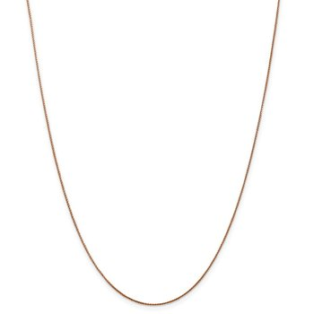 Leslie's 14k Rose Gold .8mm Baby Spiga (Wheat) Chain