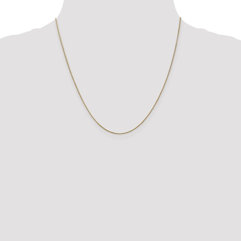 Leslie's Leslie's 14K Rose Gold .8mm Baby Spiga (Wheat) Chain