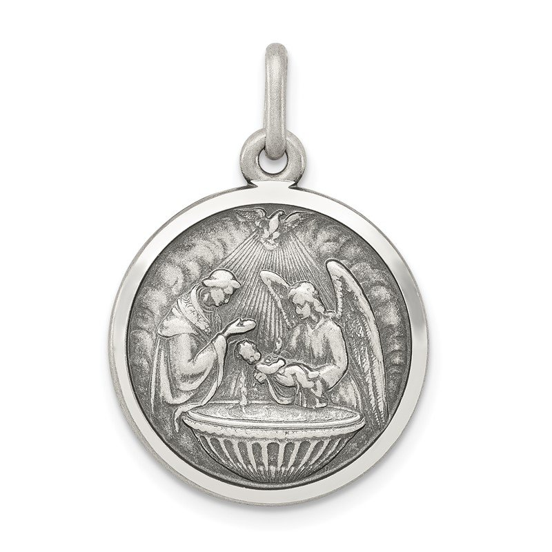 Quality Gold Sterling Silver Baptism Medal