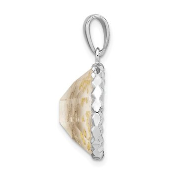 Sterling Silver Rhodium-plated MOP Pendant