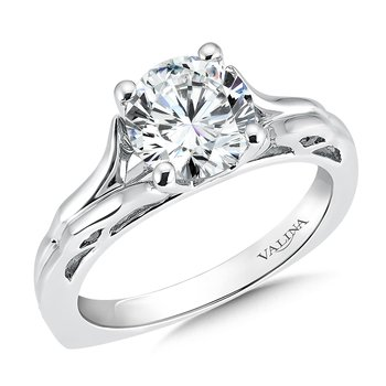 Solitaire mounting .13 ct. tw., 1 1/2 ct. round center.