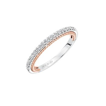 Rope Diamond Wedding Band