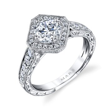 MARS 26100 Diamond Engagement Ring, 0.66 Ctw.