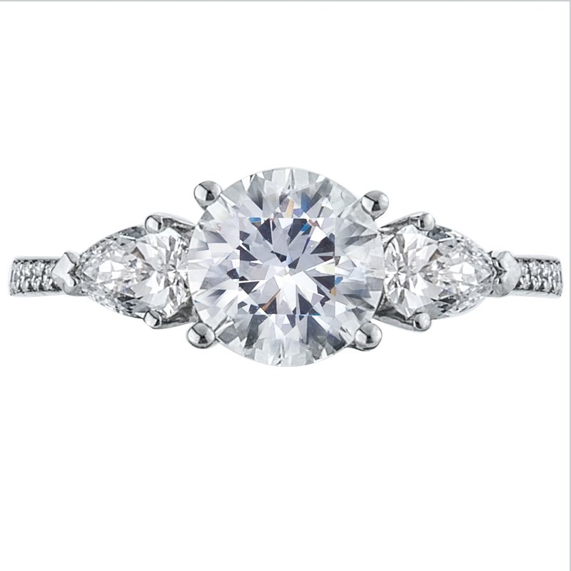 Mark Patterson Three Stone Diamond Engagement Ring