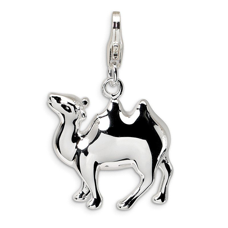 Quality Gold Sterling Silver 3-D Camel w/Lobster Clasp Charm
