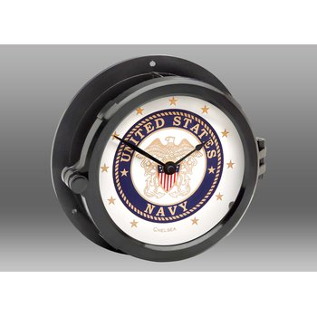 Patriot Deck U.S. Navy Clock - Black Hands