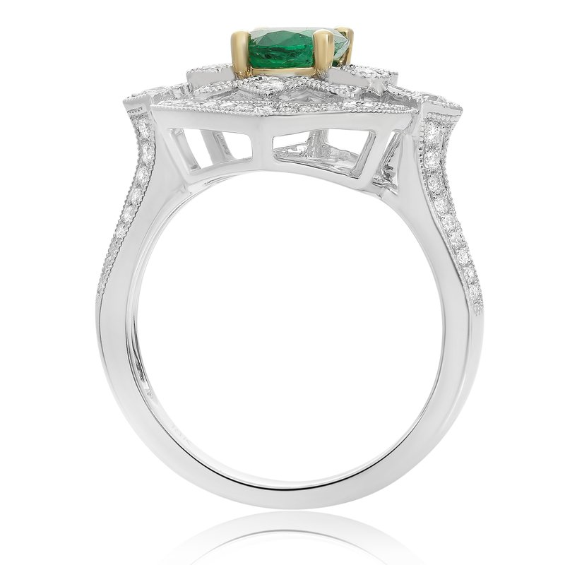 Roman & Jules Vintage Emerald & Diamond Ring