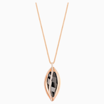 Hailey Pendant, Medium, Gray, Rose-gold tone plated