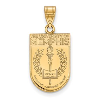 Gold-Plated Sterling Silver University of Memphis NCAA Pendant