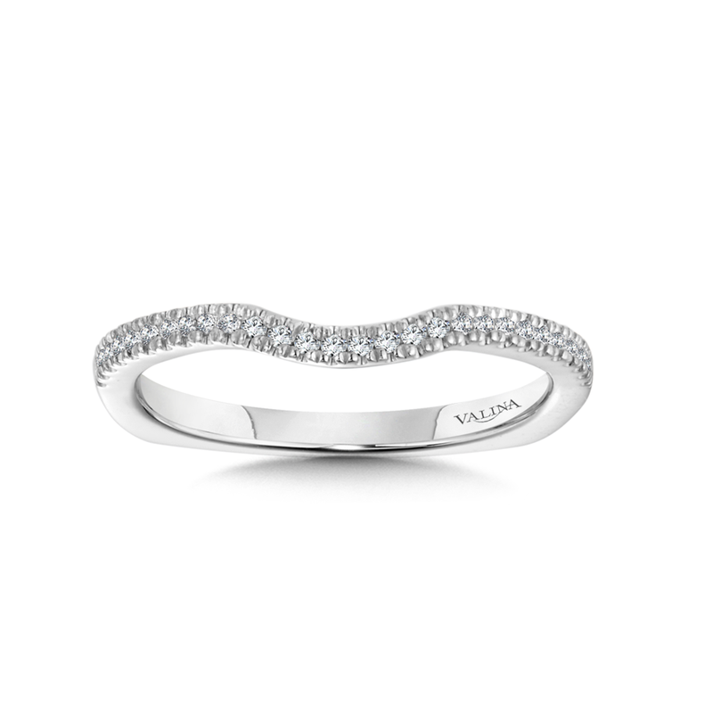 Valina Diamond and 14K White Gold Wedding Ring (0.11 ct. tw.)
