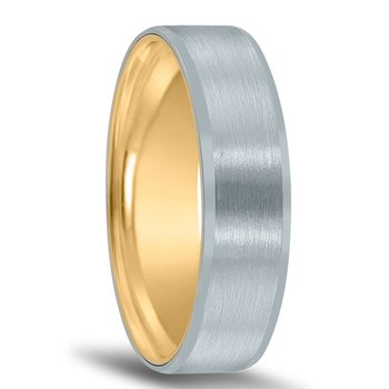 Men's Unique Inside Out Wedding Band - XNT16967