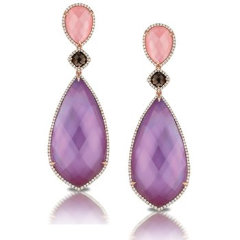 Viola Amethyst Fashion Earrings