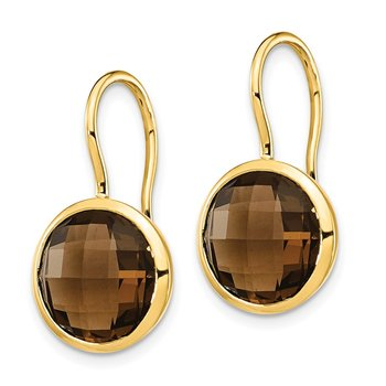 14k Smoky Quartz Dangle Earrings