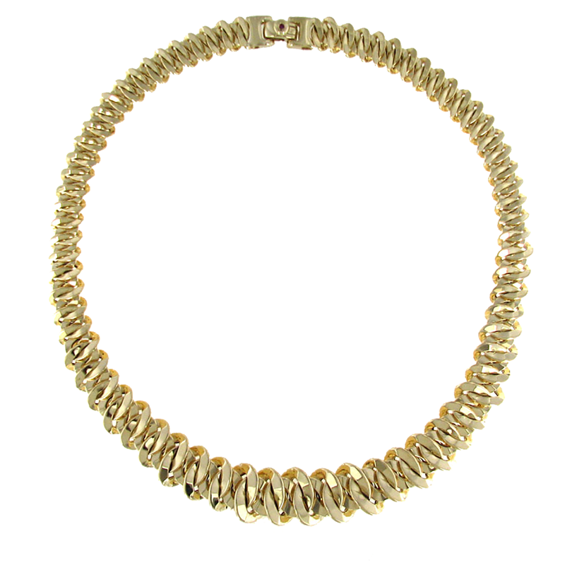 Roberto Coin 18KT GOLD GRADUATED LINK NECKLACE
