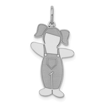 Sterling Silver Rhodium-plated Country Side Cuddle Charm