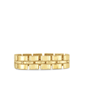 Retro Link Bracelet &Ndash; 18K Yellow Gold