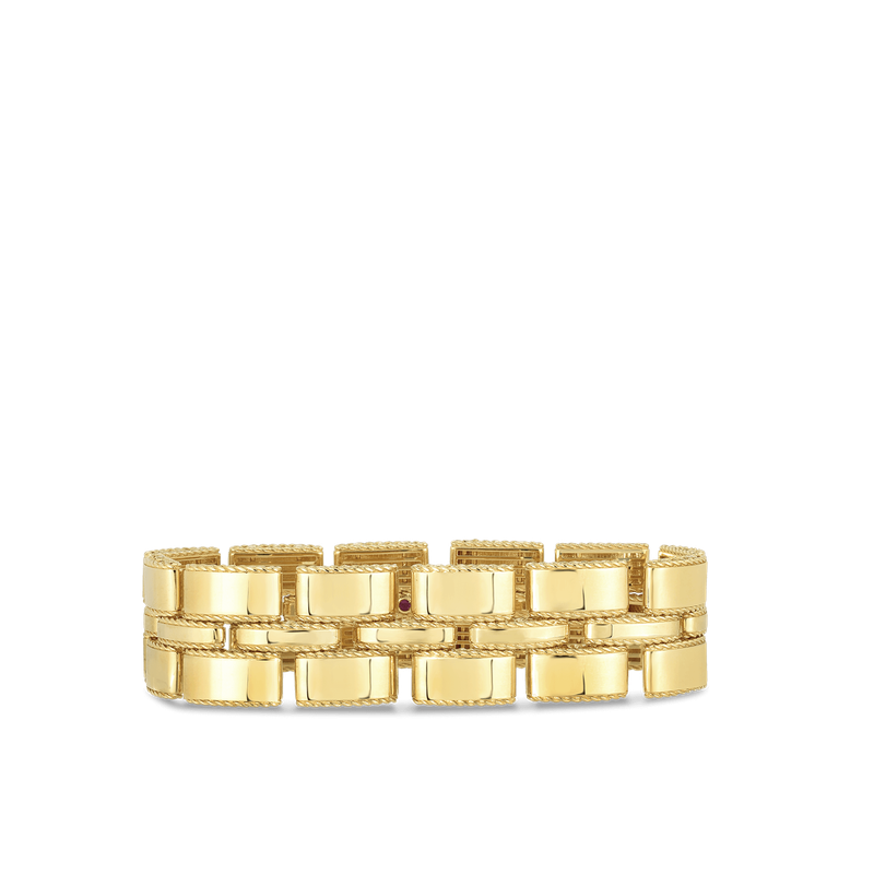 Roberto Coin Retro Link Bracelet &Ndash; 18K Yellow Gold