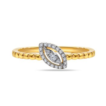 14K Marquise Shape ring 21 Diamonds 0.12C