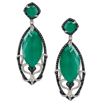 Emerald Dreams Green Agate Earrings