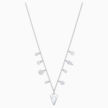 Lucy Kite Choker, White, Rhodium plating