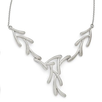 Leslie's Sterling Silver Scratch Finish Necklace