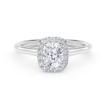 Center of My Universe® Cushion Halo Engagement Ring