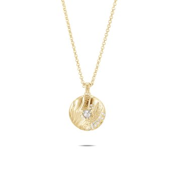 Lahar Pendant Necklace in 18K Gold with Diamonds