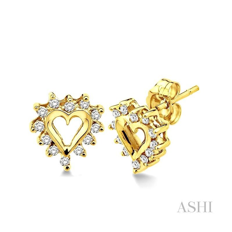 ASHI heart shape diamond earrings
