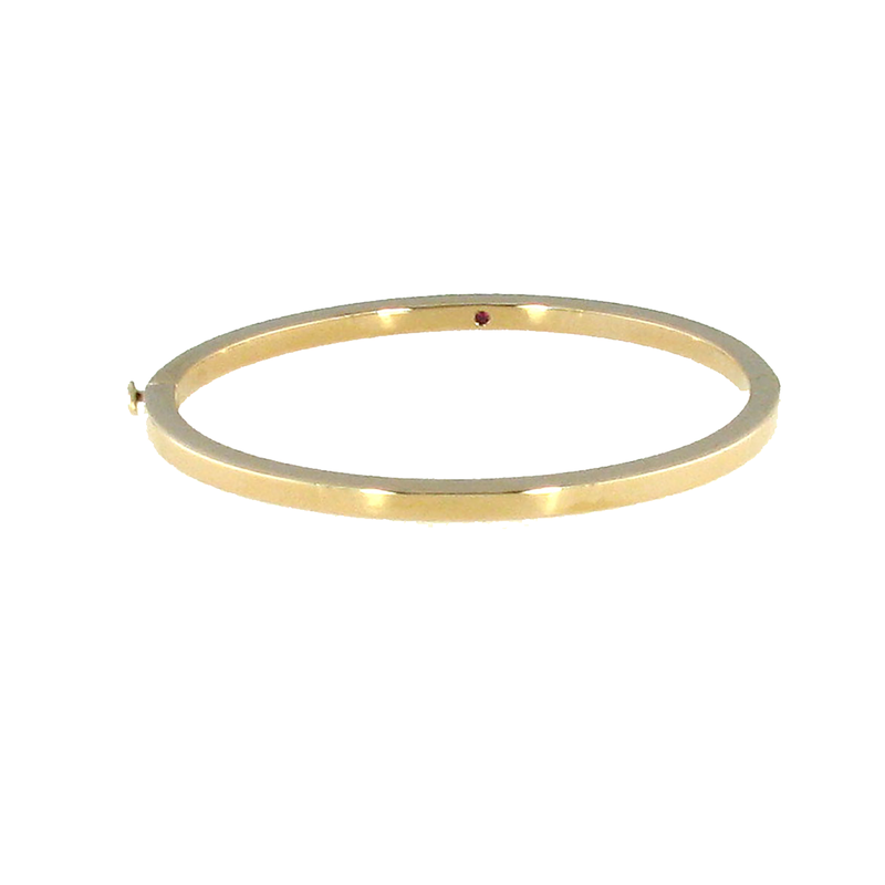 Roberto Coin 18Kt Gold Classic Oval Bangle