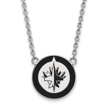 Sterling Silver Winnipeg Jets NHL Necklace