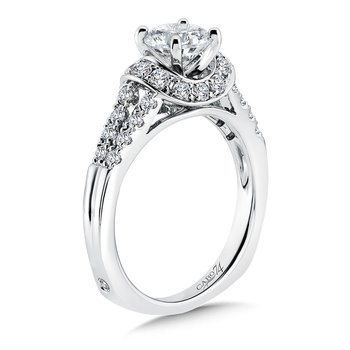 Modernistic Collection Split Shank Diamond Engagement Ring in 14K White Gold with Platinum Head (1ct. tw.)