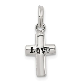 Sterling Silver LOVE Cross Pendant