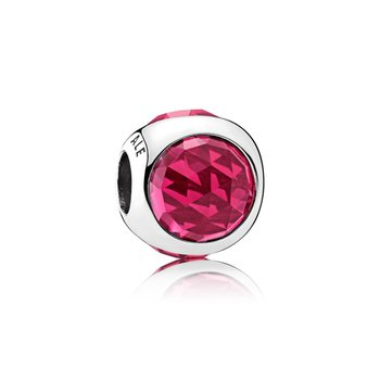 Radiant Droplet Charm, Cerise Crystals