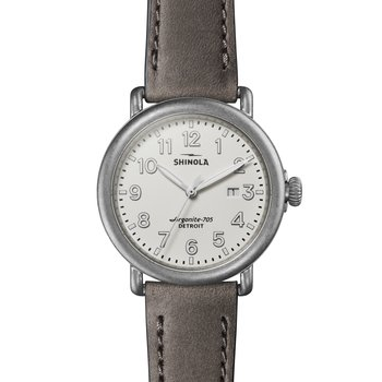 Runwell 3HD 41mm, Heather Gray Leather Strap