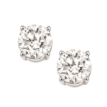 Diamond Stud Earrings in 18K White Gold (1 1/4 ct. tw.) I1/I2 - J/K