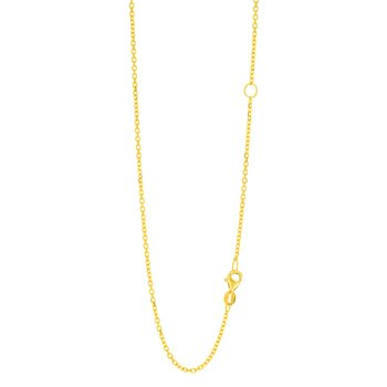 14K Gold 1.5mm Extendable Chain