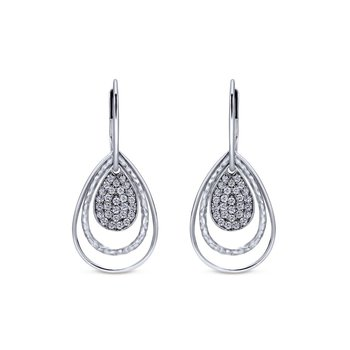 925 Silver White Sapphire Pendant Trio Earrings