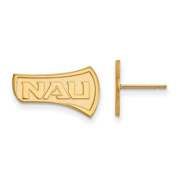 Gold Northern Arizona University NCAA Earrings