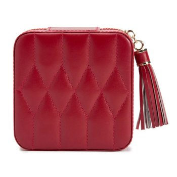 Caroline Zip Travel Case, red leather