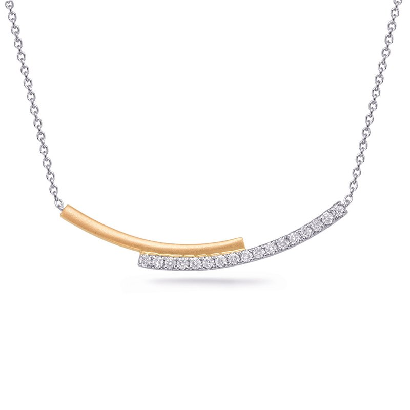 S. Kashi  & Sons White & Yellow Gold Diamond Necklace