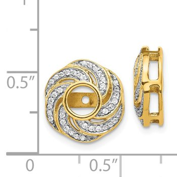 14k Yellow Gold Diamond Jacket Earrings