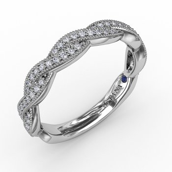 Vintage Twisted Diamond Band