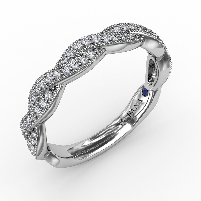 Fana Vintage Twisted Diamond Band