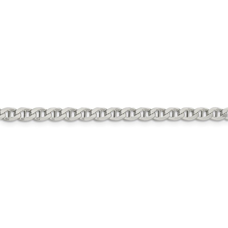 Quality Gold Sterling Silver 4.15mm Flat Cuban Anchor Chain
