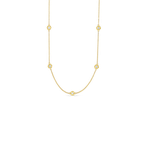 Roberto Coin Long Necklace With Alternating Diamond Stations