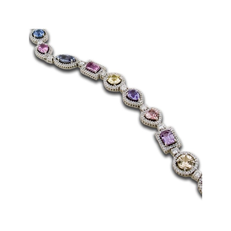 James Breski Natural Rainbow Sapphire Shape Bracelet