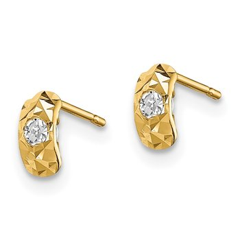 14k Madi K D/C CZ Post Earrings